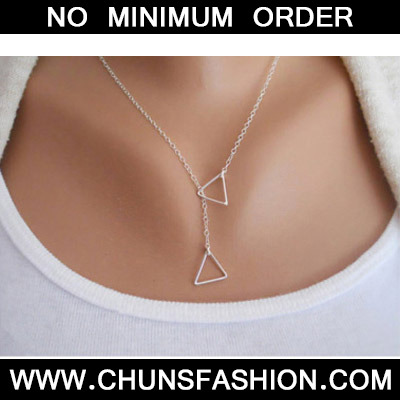 Silver Triangle Shape Necklace