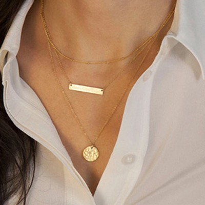 Gold Round Shape Necklace