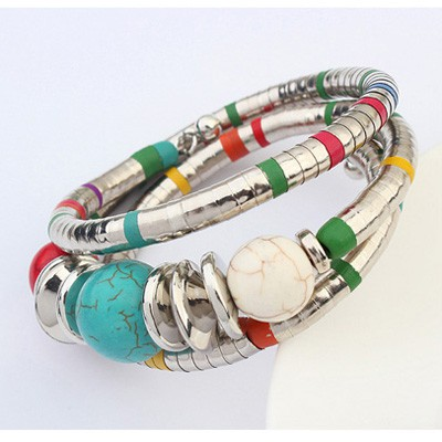 MultiBeads Multilayer Bangle