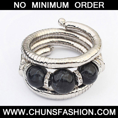 Black Diamond Multilayer Bangle