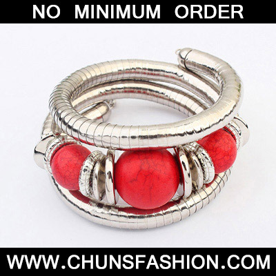 Red Beads Multilayer Bangle