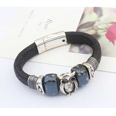 Black Owl Shape Bracele