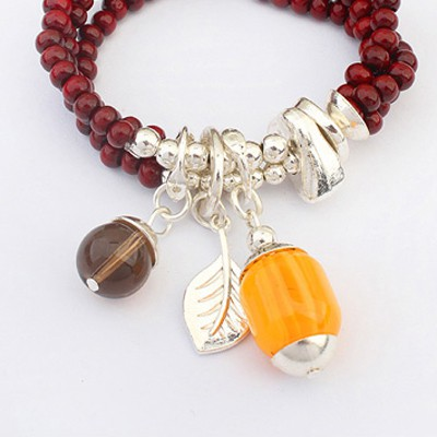 Red Beads Multilayer Bracele