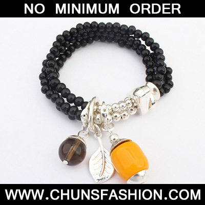 Black Beads Multilayer Bracele