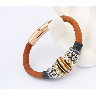 Coffee Diamond Bracele