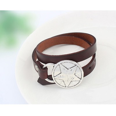 Coffee Star Pattern Bracele