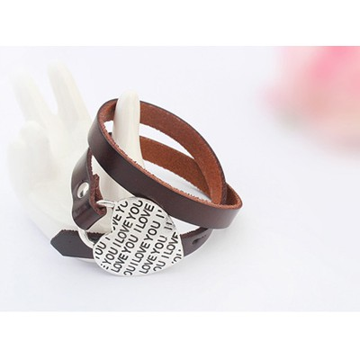 Coffee Heart Shape Bracele