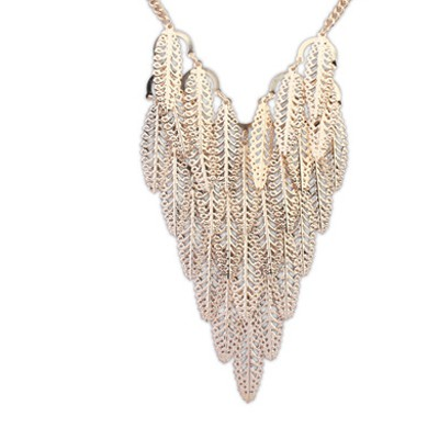 Gold Leaf Shape Hollow Out Necklace