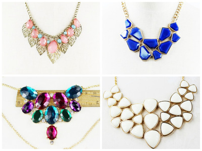 50 Units of Assort Statement Necklace #36