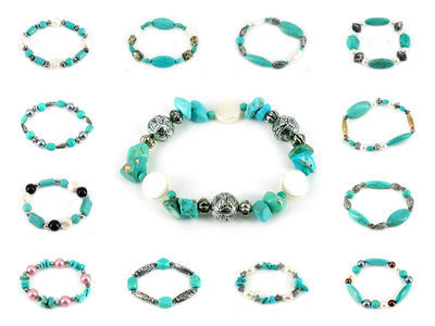 48 X Turquoise Hand Made Bracelets #18