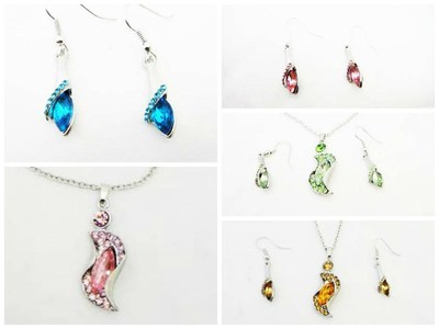 72 Sets of Tear Drop Necklace and Earrings #67